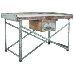 Industrial Metal Work Table from France