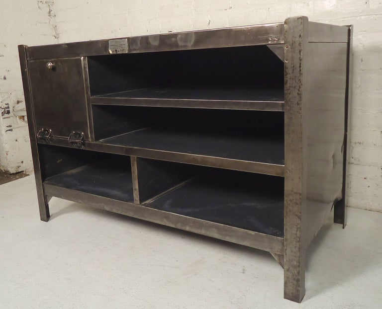 Industrial Metal Workstation In Distressed Condition For Sale In Brooklyn, NY