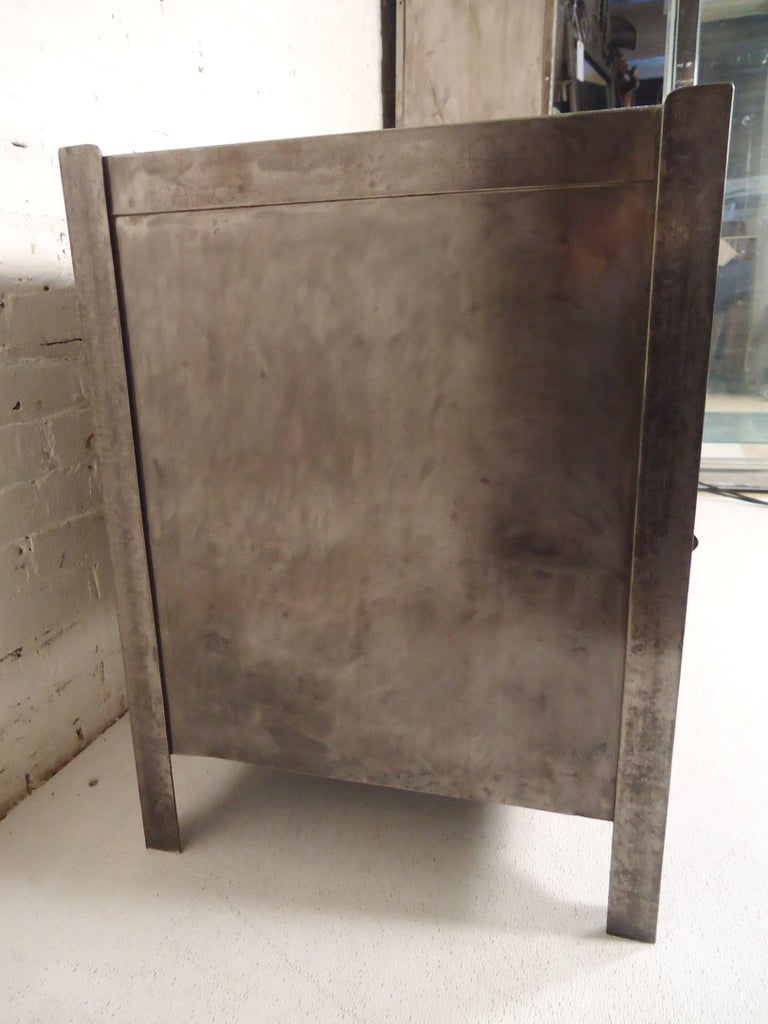 Mid-20th Century Industrial Metal Workstation For Sale