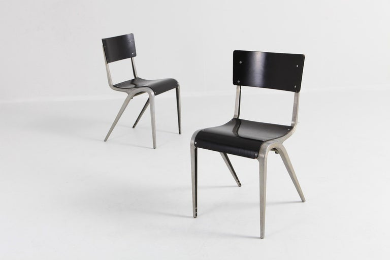 20th Century Industrial Mid-Century Modern Chairs by James Leonard for Esavian For Sale