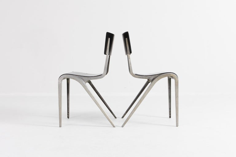 Industrial Mid-Century Modern Chairs by James Leonard for Esavian For Sale 1