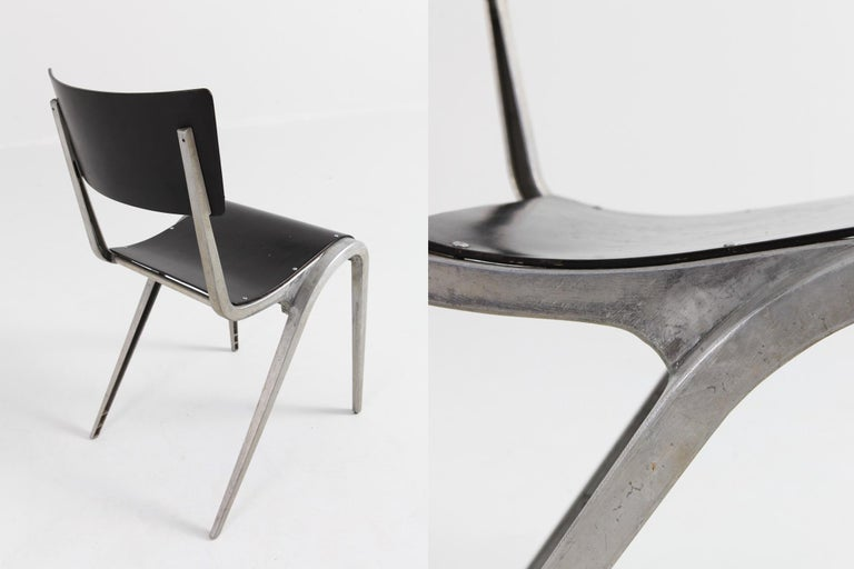 Industrial Mid-Century Modern Chairs by James Leonard for Esavian For Sale 3