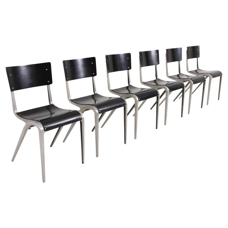 Industrial Mid-Century Modern Chairs by James Leonard for Esavian For Sale