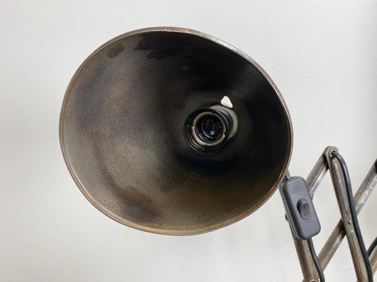 Industrial Midcentury Scissor Wall Lamp, 1950s For Sale 1