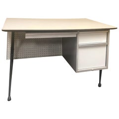 Industrial Midcentury Desk by Raymond Loewy for Brunswick