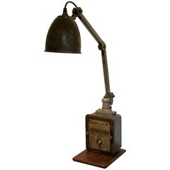 Industrial Midcentury Machinist Lamp