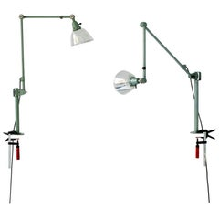 Industrial Midgard Desk Light with Table Bracket, Model 121, Curt Fischer, Auma