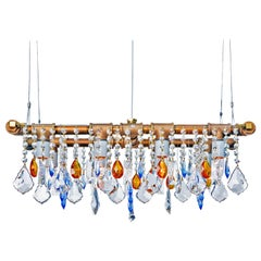 Industrial Mini-Banqueting Bronze Linear Suspension Chandelier