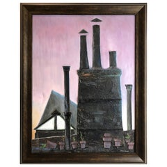 Industrial Mixed-Media Oil Painting by Robert Blanchard