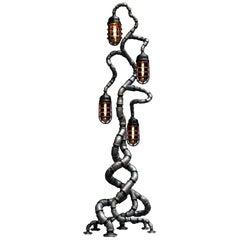 Industrial Modern Floor Lamp Antique Crouse Hinds, Steel Pandemic Design Studio