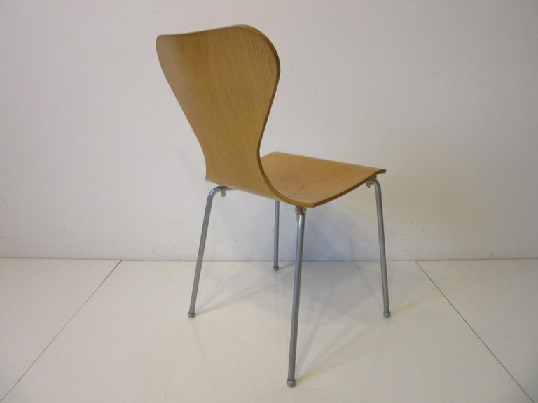 20th Century Industrial Molded Plywood Dining Chairs For Sale