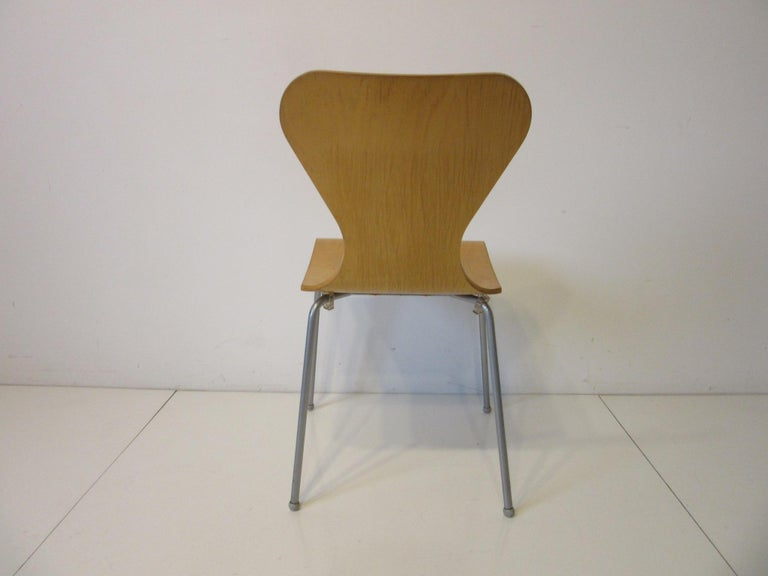 Bentwood Industrial Molded Plywood Dining Chairs For Sale