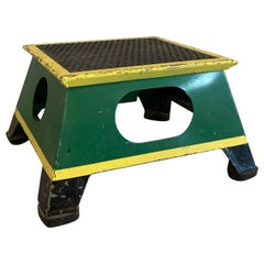 Industrial Painted Steel Train Conductor Step Stool