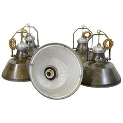 Industrial Pendant Lights by Holophane, circa 1930s