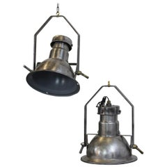 Industrial Pendant Lights by Holophane, circa 1950s