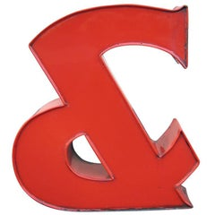 Industrial Red Ampersand Letter