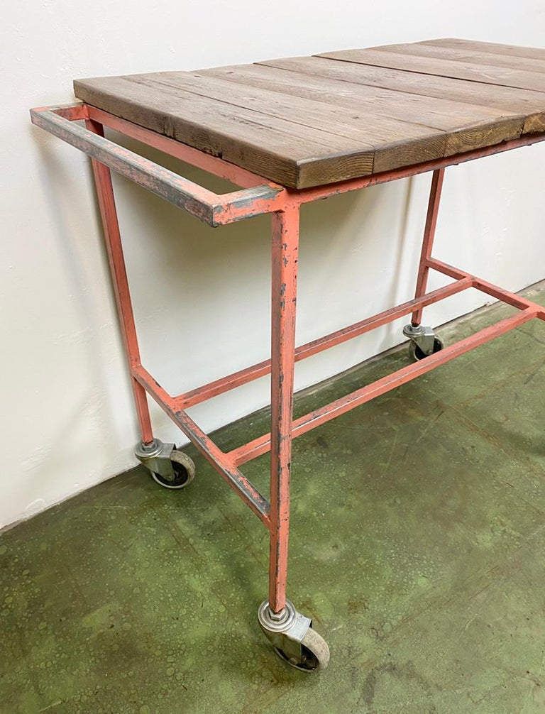 - Vintage industrial trolley with worktop