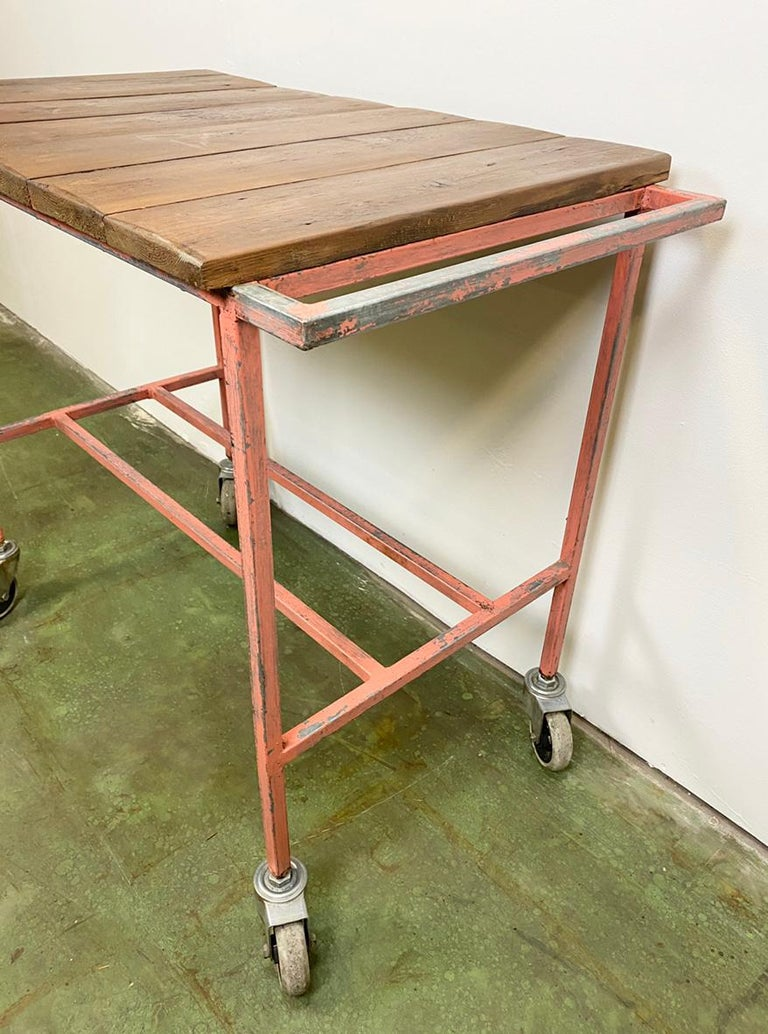 Czech Industrial Red Trolley, 1960s For Sale