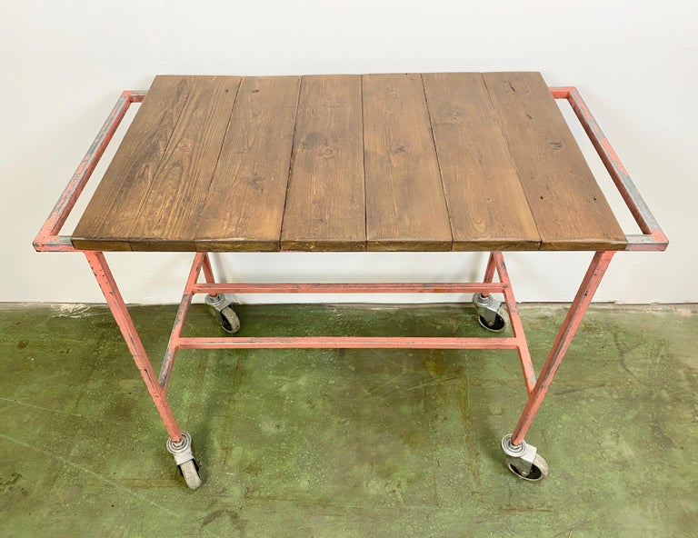 Industrial Red Trolley, 1960s For Sale 1