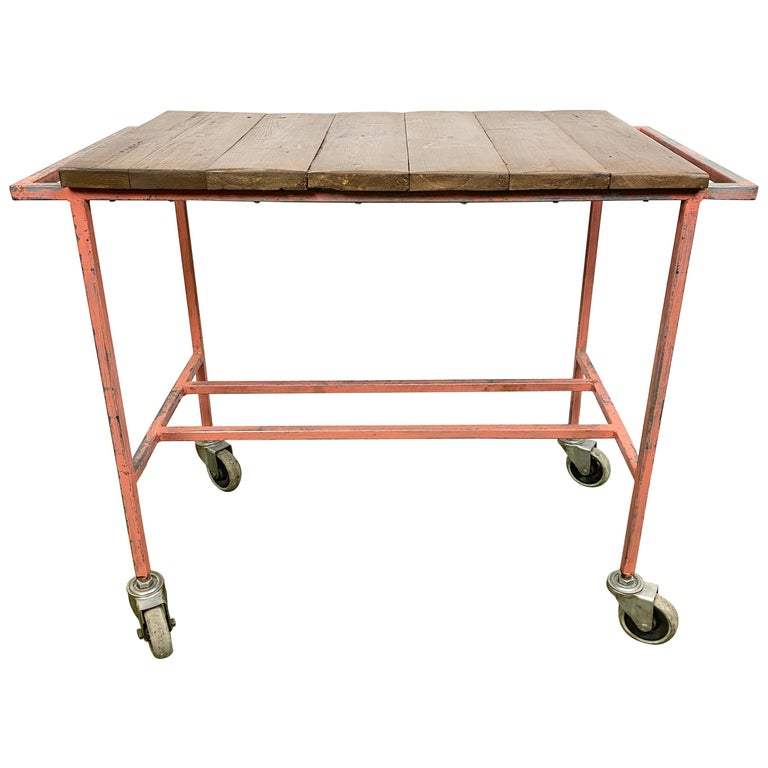 Industrial Red Trolley, 1960s For Sale