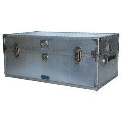 Industrial Riveted Aluminum Trunk 1940's