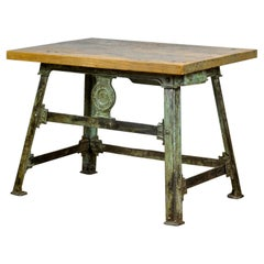 Industrial Riveted Cast Iron Table, 1900's