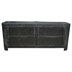 Industrial Riveted Iron Cabinet