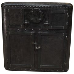 Industrial Riveted Iron Factory Cabinet