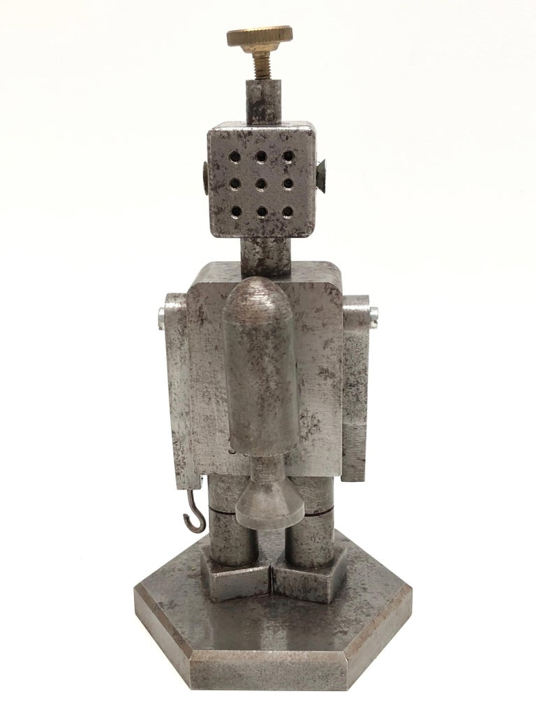 Mid-Century Modern Industrial Robot Scale Design Model Desk Sculpture, German, 1970s For Sale
