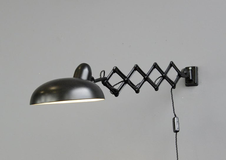 Industrial Scissor Lamp by Escolux, circa 1930s In Good Condition For Sale In Gloucester, GB