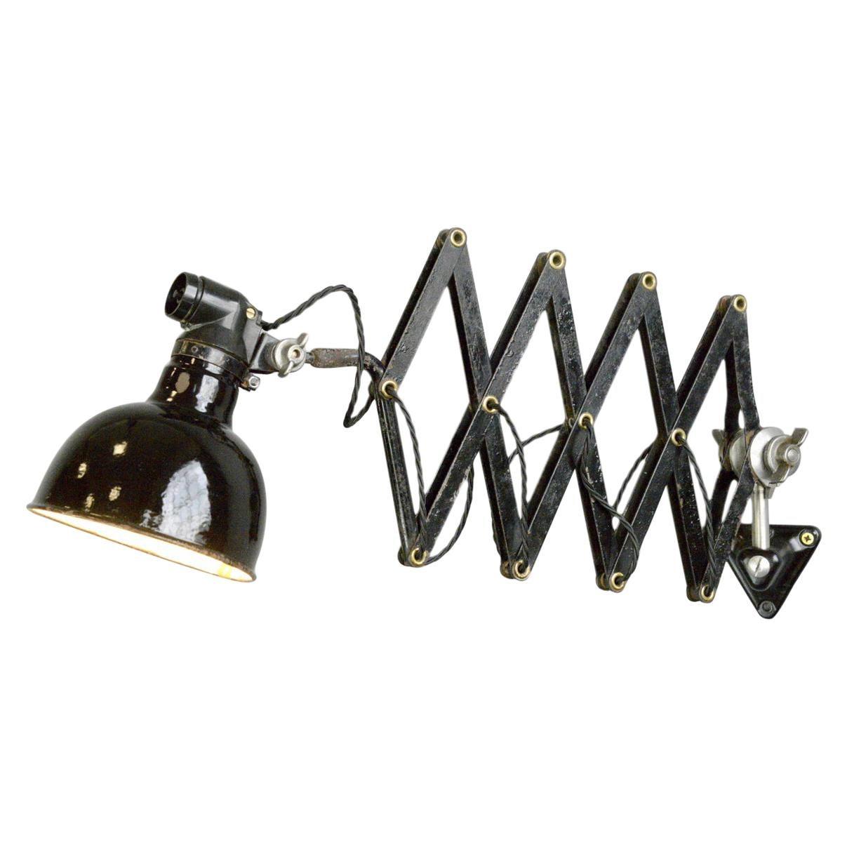 Industrial Scissor Lamp by Rademacher, Circa 1930s