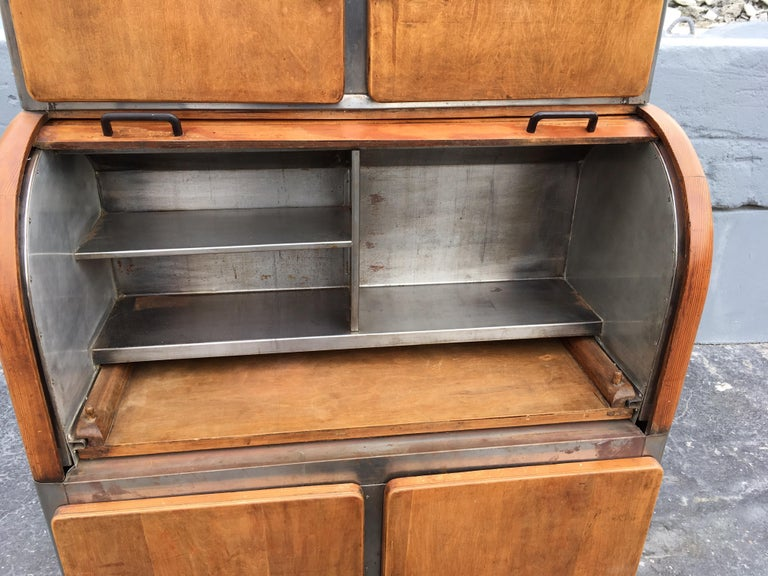 Industrial Secretary Cabinet Art Deco Kitchen For Sale 4
