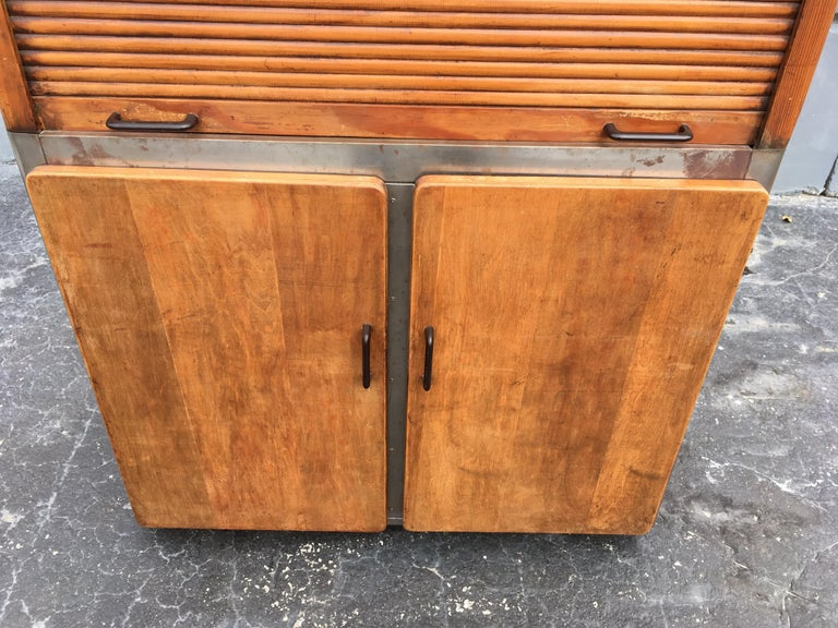 Industrial Secretary Cabinet Art Deco Kitchen For Sale 13