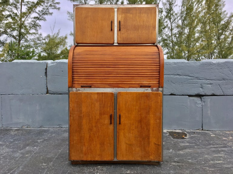 Industrial Secretary Cabinet Art Deco Kitchen For Sale 14