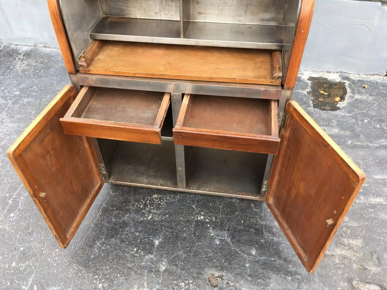 Industrial Secretary Cabinet Art Deco Kitchen In Good Condition For Sale In Opa Locka, FL