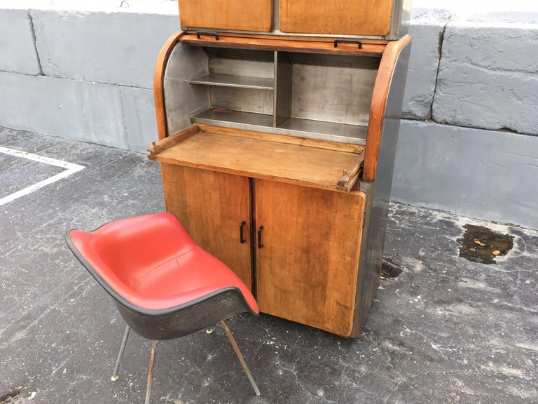 Industrial Secretary Cabinet Art Deco Kitchen For Sale 1