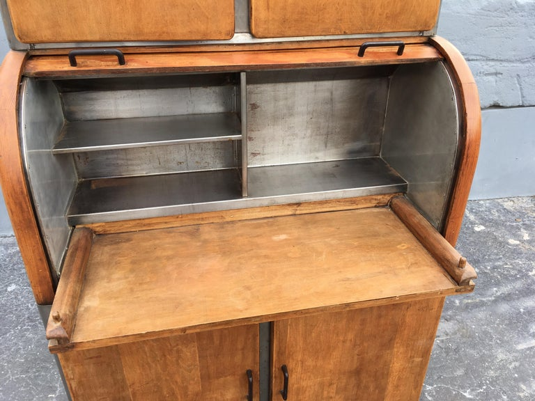 Industrial Secretary Cabinet Art Deco Kitchen For Sale at ...