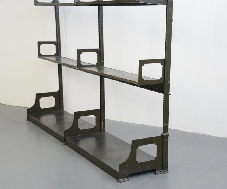 Industrial Shelving by Strafor, circa 1920s For Sale 4