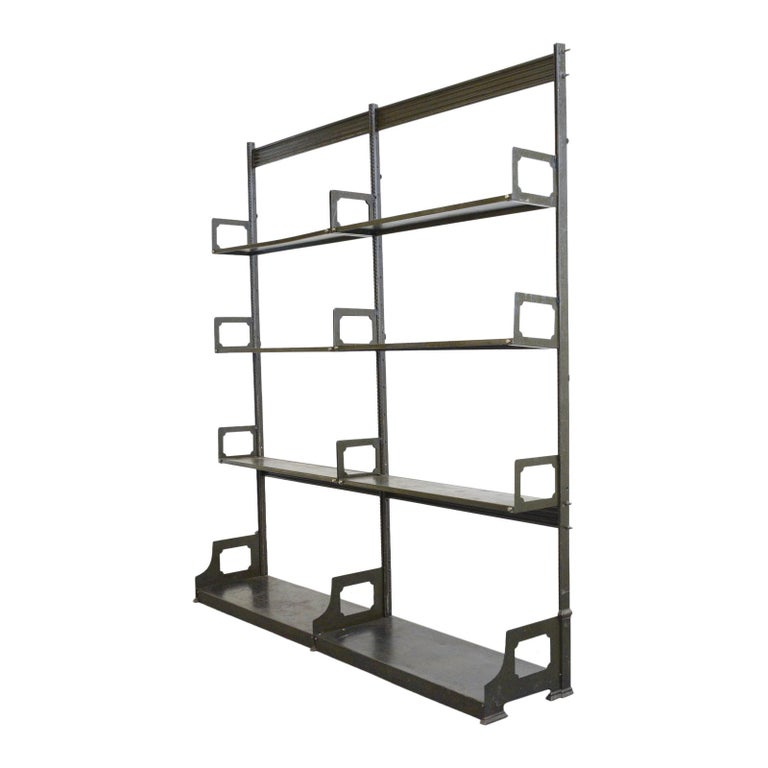 Industrial Shelving by Strafor, circa 1920s For Sale