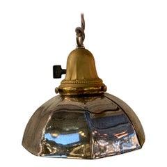 Industrial Silver Mercury Glass Pendant Light