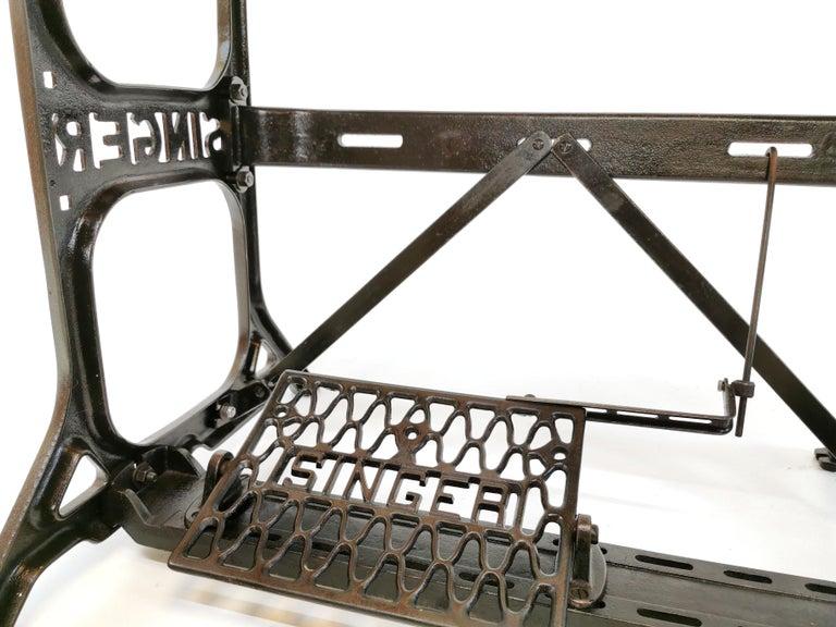 Mid-Century Modern Industrial Singer Engineers Machinists Desk Table Bench Vintage Midcentury