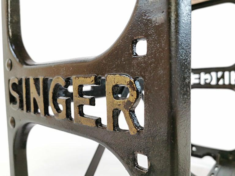 British Industrial Singer Engineers Machinists Desk Table Bench Vintage Midcentury