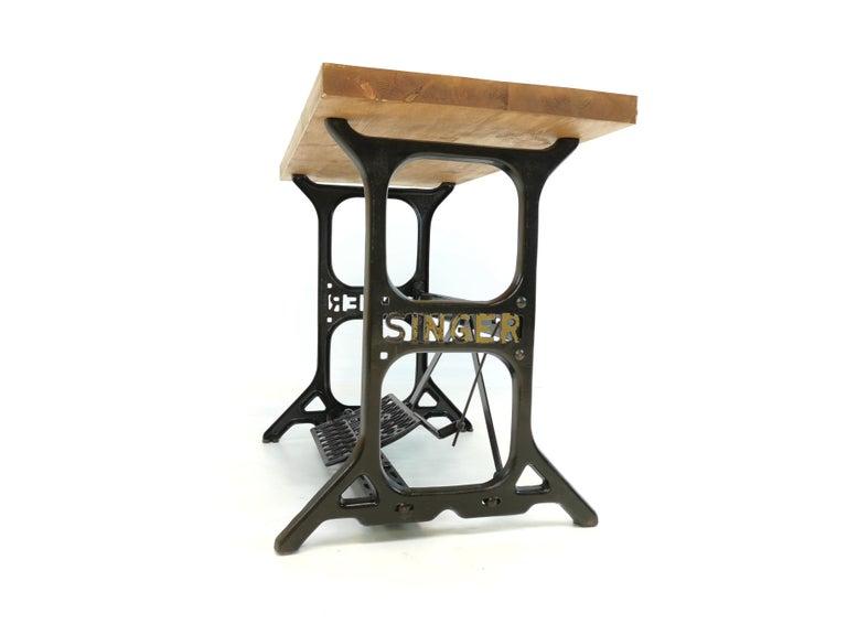 Metal Industrial Singer Engineers Machinists Desk Table Bench Vintage Midcentury