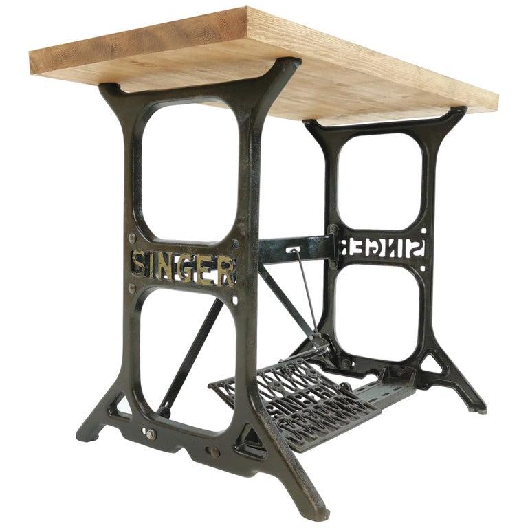 Industrial Singer Engineers Machinists Desk Table Bench Vintage Midcentury