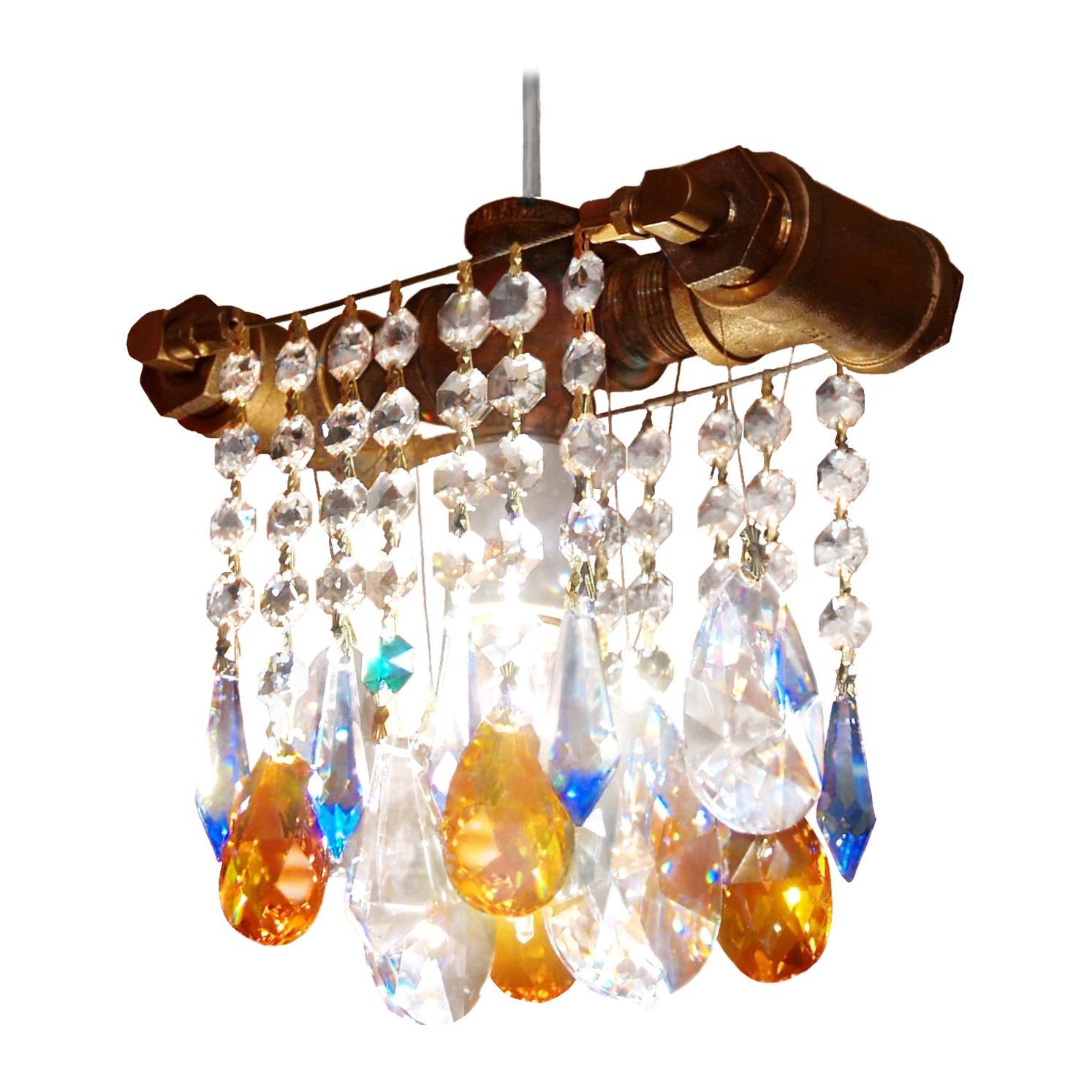 Industrial Single Bulb Bronze Chandelier Pendant