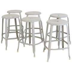 Industrial Stacking Stools by Nicolle, circa 1950s