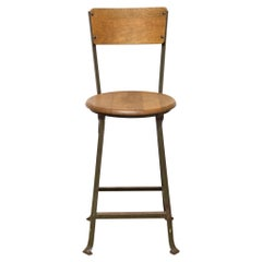 Industrial Standard Steel Co. Schoolhouse Stool, circa 1940