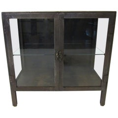 Industrial Steel and Glass Cabinet / Bookcase