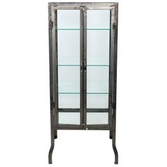 Industrial Steel and Two Door Apothecary Cabinet