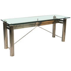 Industrial Steel Console, France, 1980